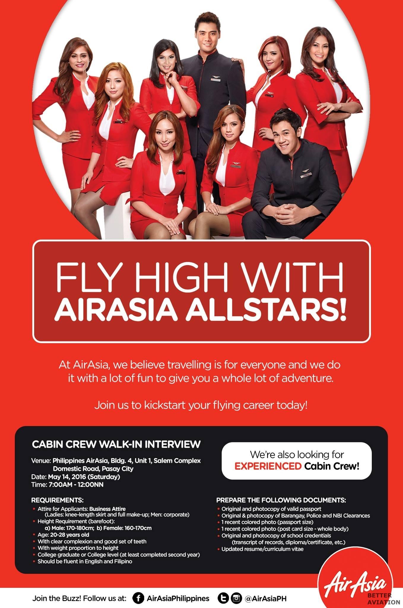 AirAsia Philippine Cabin Crew May 2016