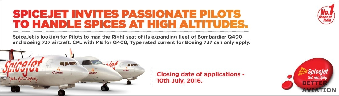 SpiceJet First Officer July 2016