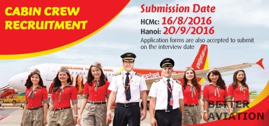 VietJet Air Cabin Crew August September 2016