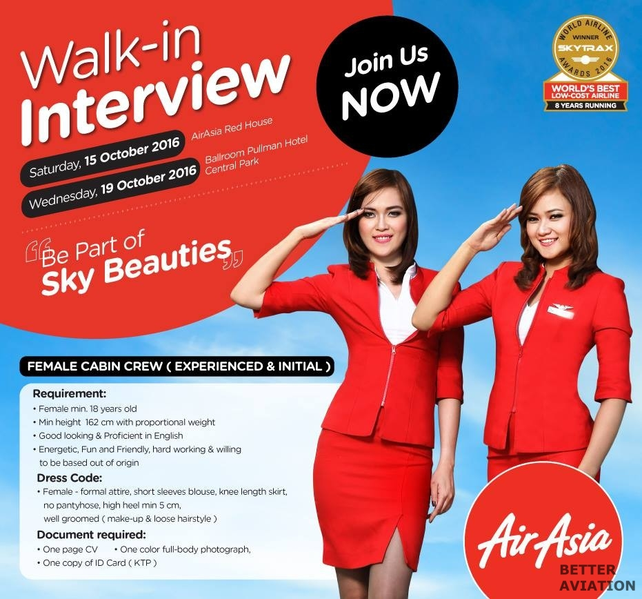 AirAsia Indonesia Cabin Crew October 2016
