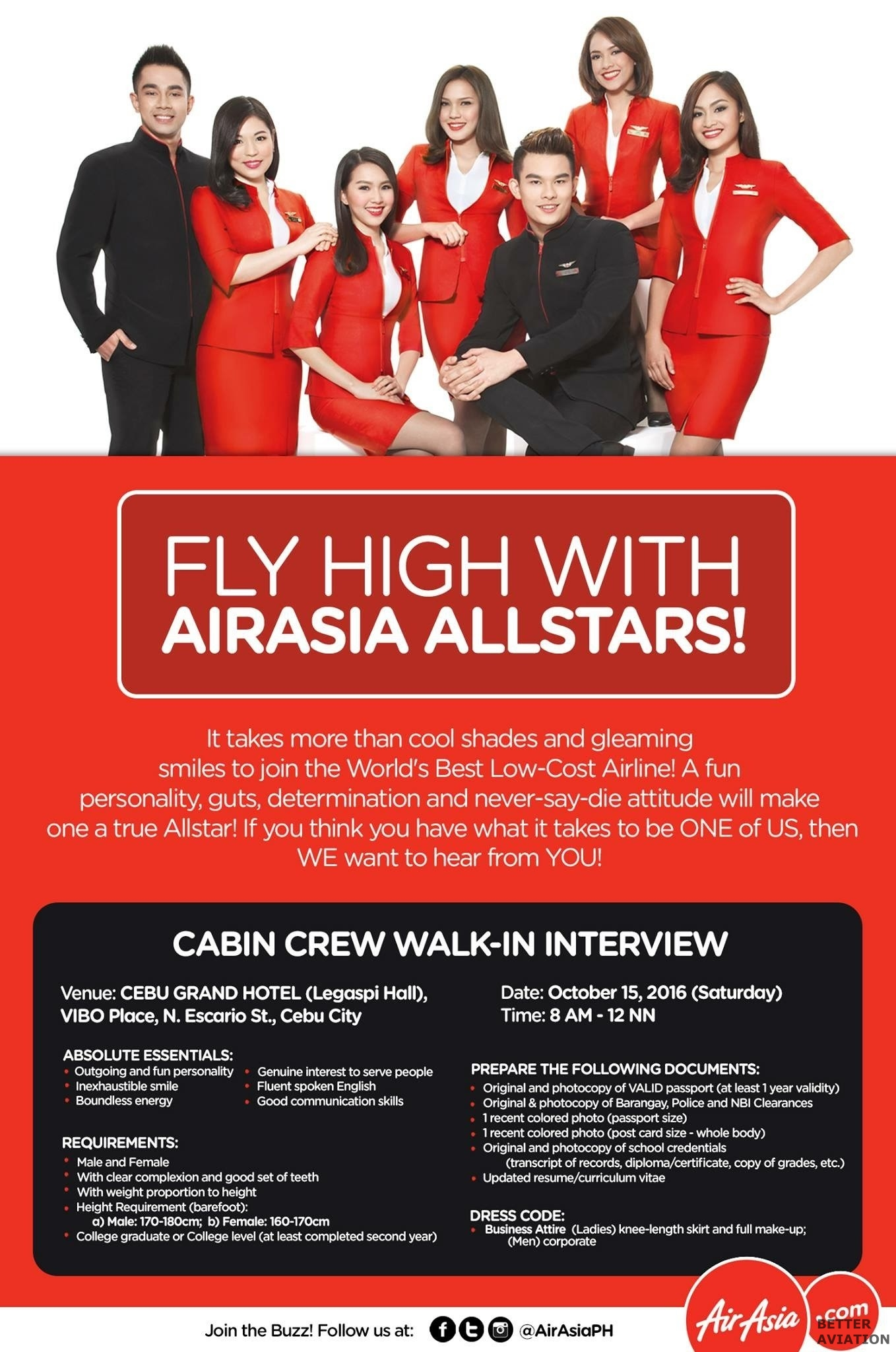 AirAsia Philippines Cabin Crew October 2016