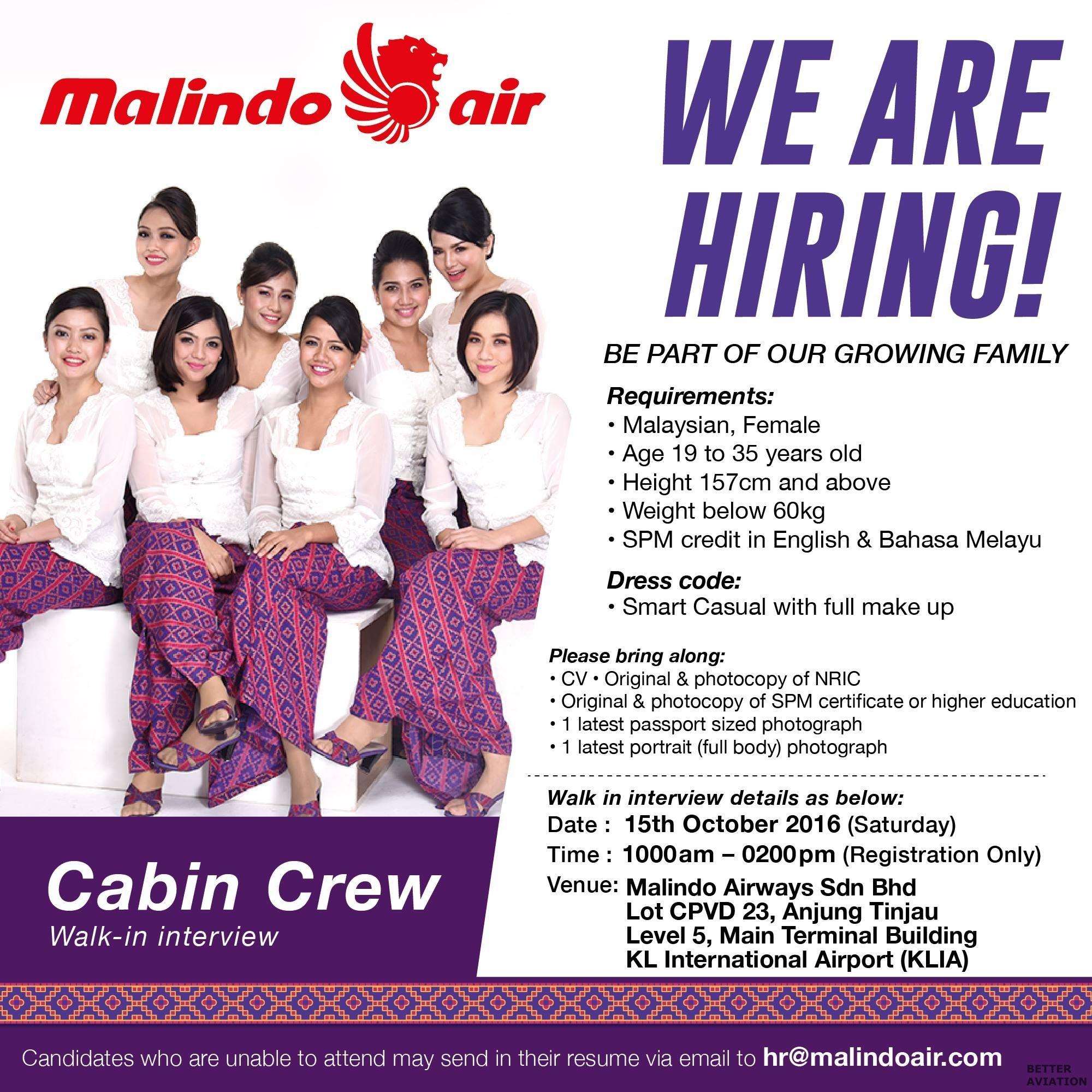 Malindo Air Cabin Crew October 2016