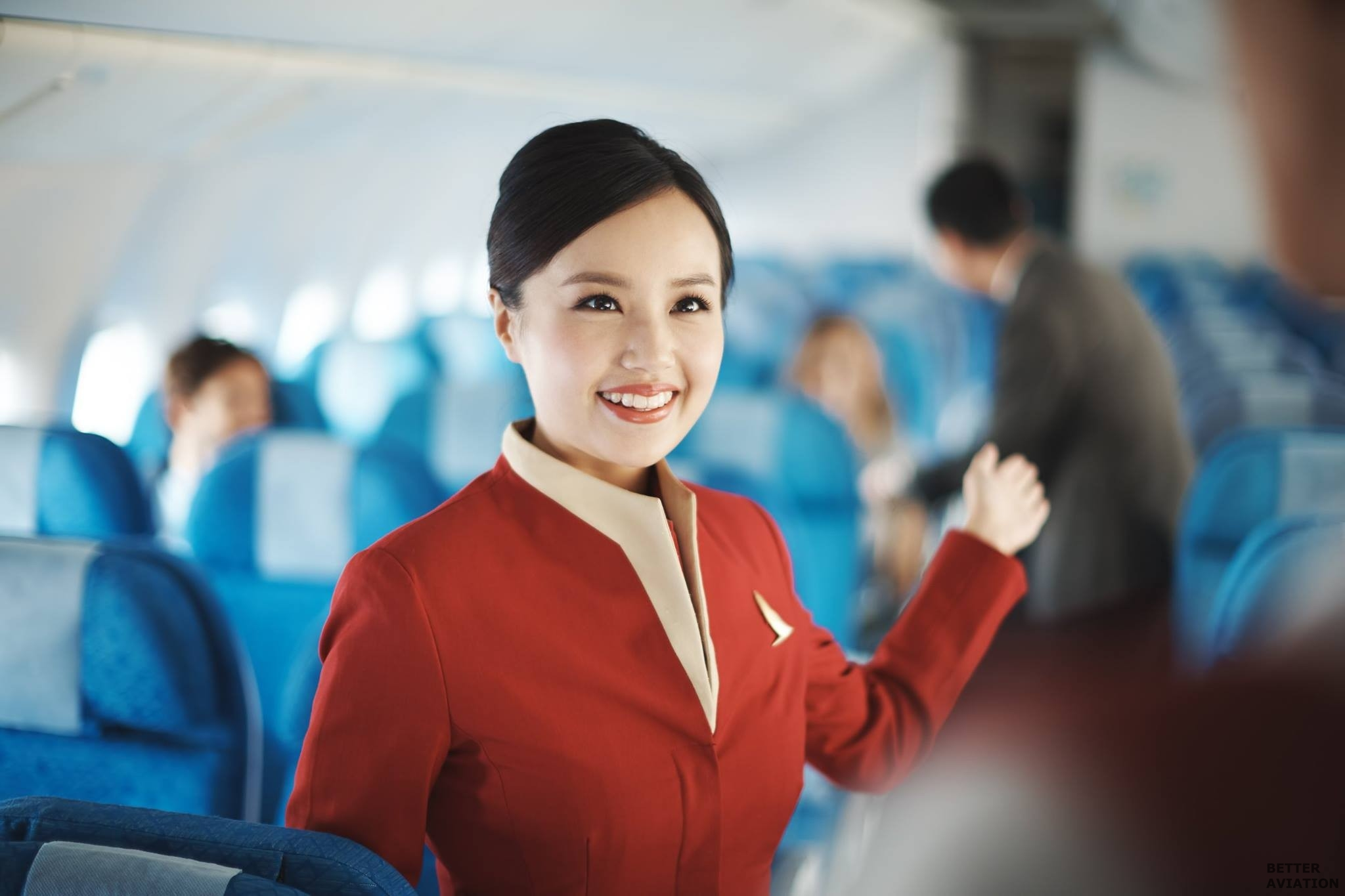 Candid photos of Cathay Pacific flight attendant ~ World