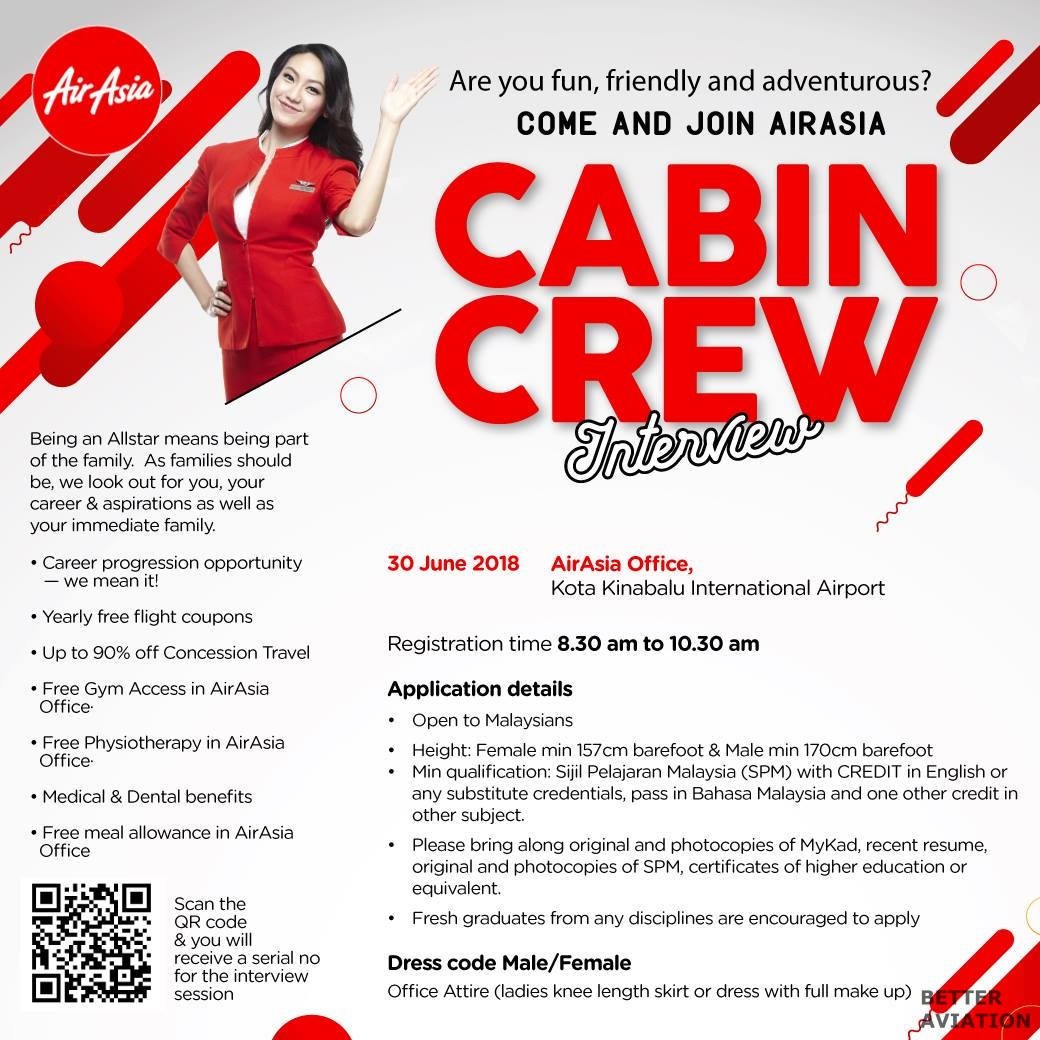 AirAsia Cabin Crew Walk-in Interview (June 2018) - Better Aviation