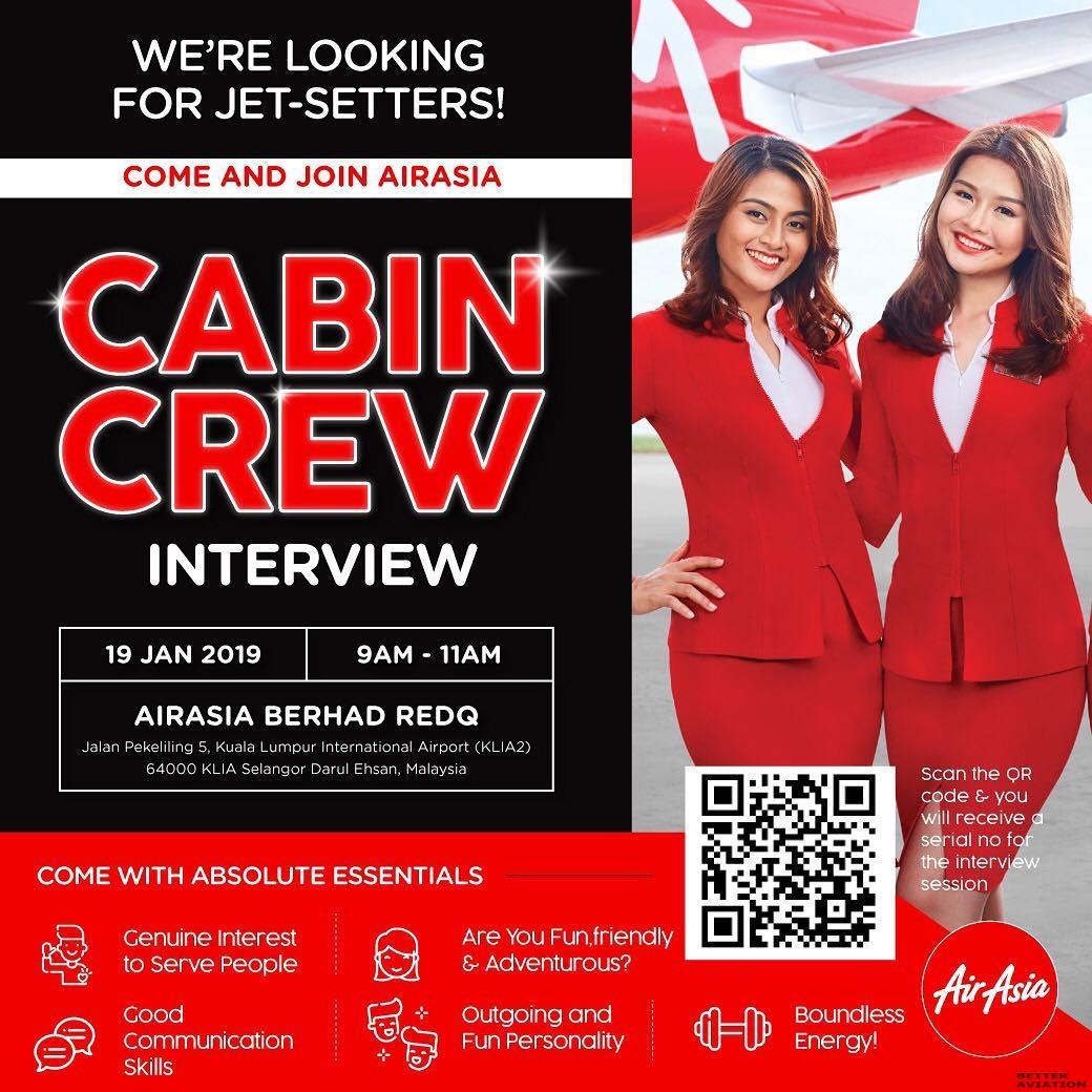 AirAsia Cabin Crew Walk-In Interview [Kuala Lumpur] (January