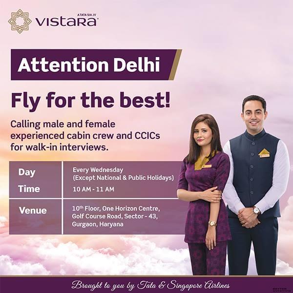 Vistara Cabin Crew Walk-in Interview [Delhi] - Better Aviation