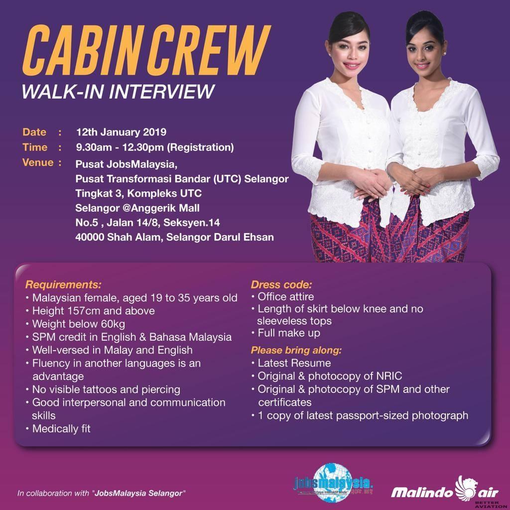 malindo air cabin crew walk