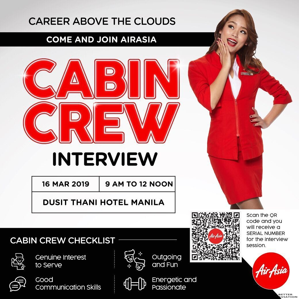 AirAsia Philippines Cabin Crew Walk-in Interview [Manila
