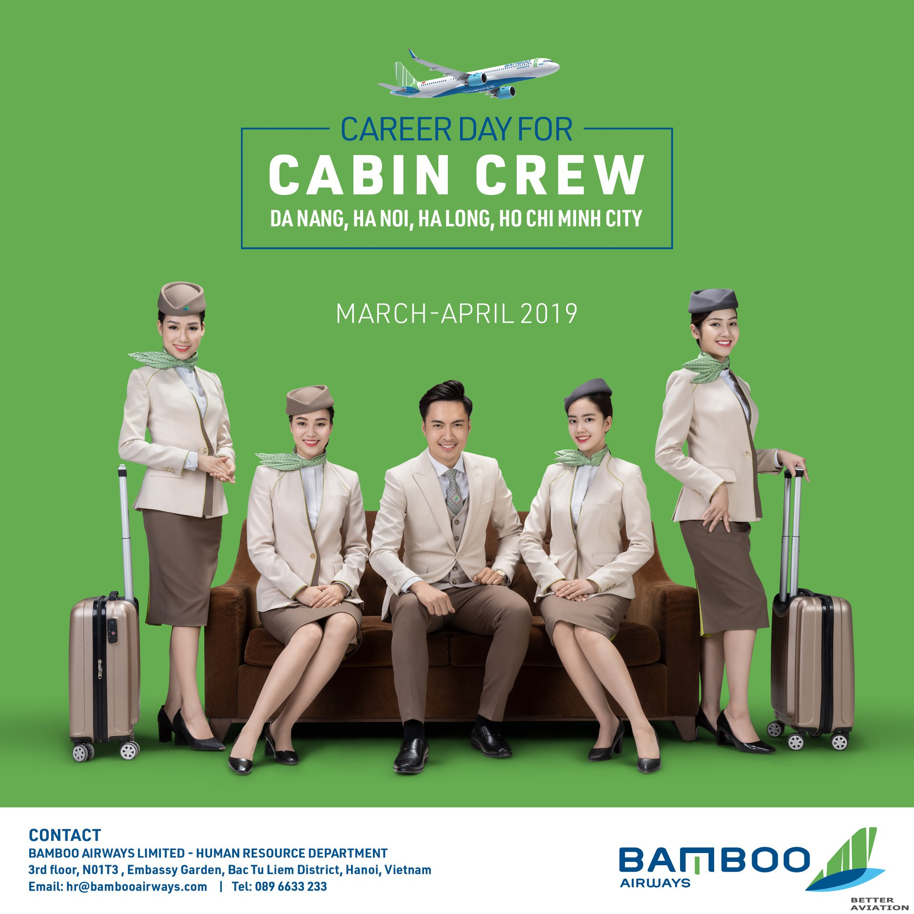 Bamboo Airways Cabin Crew Recruitments [Vietnam] (March