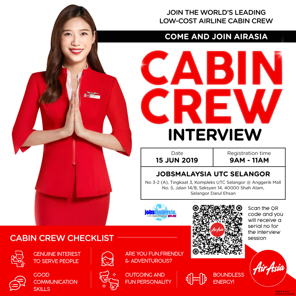 quality save off nice shoes AirAsia Cabin Crew Walk-In Interview [Shah Alam] (June 2019 ...