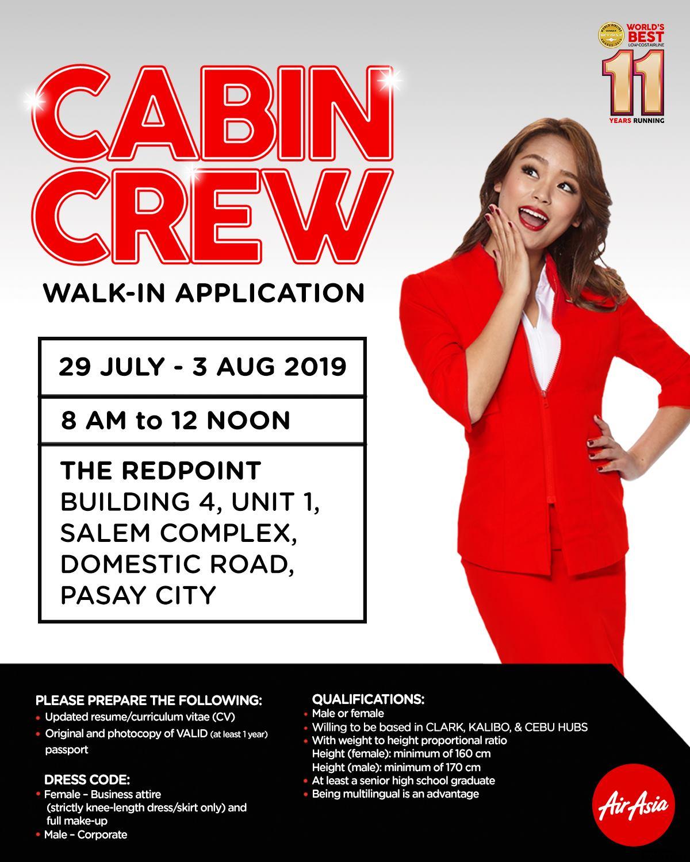 airasia philippines cabin crew walk