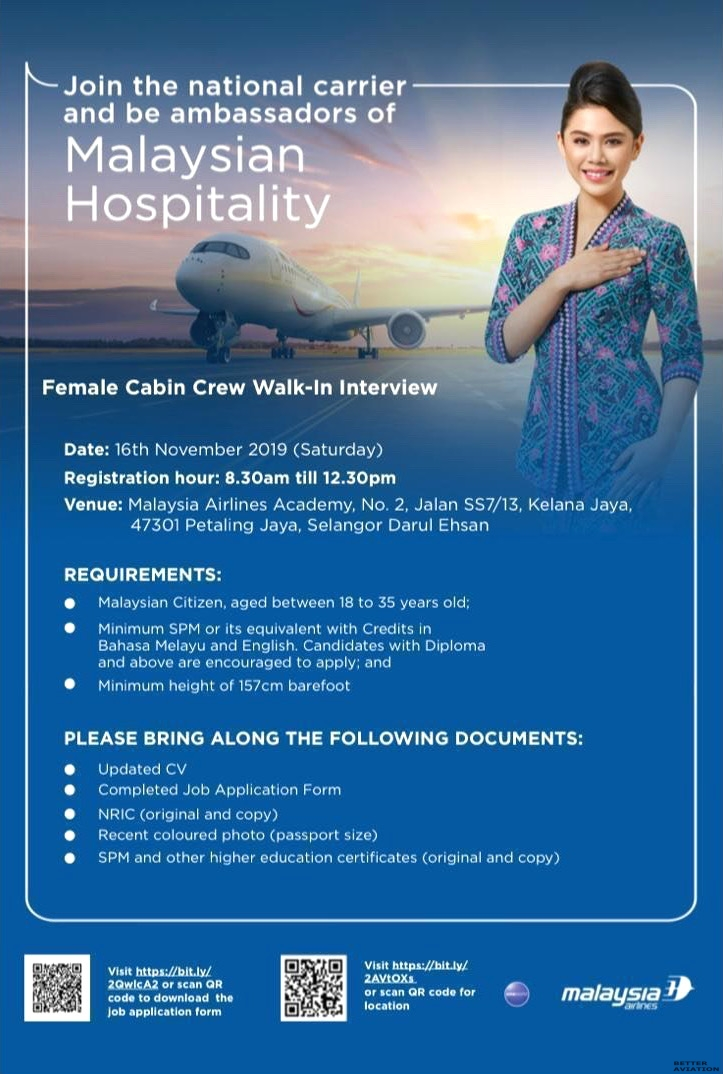 Malaysia-Airlines-Cabin-Crew-Walk-In-Interview-16-November-2019 Job Application Form Malaysia Airlines on cv form, job opportunity, agreement form, job payment receipt, job requirements, job search, job applications online, job letter, job openings, job resume, cover letter form, job vacancy, job advertisement, employee benefits form, contact form, job applications you can print,